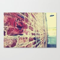 cookie monster Canvas Prints featuring Cookie Monster by sc00kie