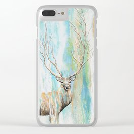 Deer Tree Clear iPhone Case