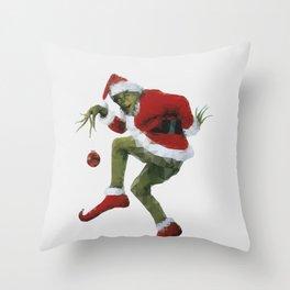 Christmas Grinch Throw Pillow