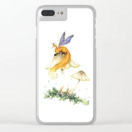 Fairy Fox's Mushroom Perch Clear iPhone Case