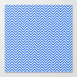 Dark Blue Chevron Canvas Print