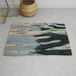Abstract Water Surface Rug