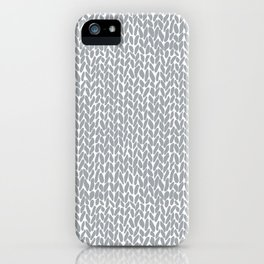 Hand Knit Light Grey iPhone Case