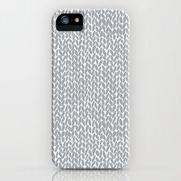 Hand Knit Light Grey iPhone Case