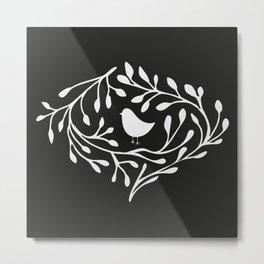 BRANCH BIRD Metal Print