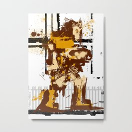 Simon De Belemonte' Splatter Metal Print