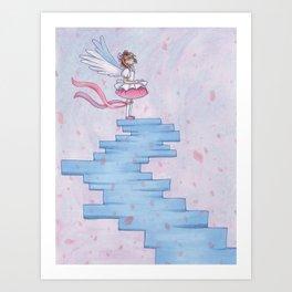 Platinum Sakura Art Print