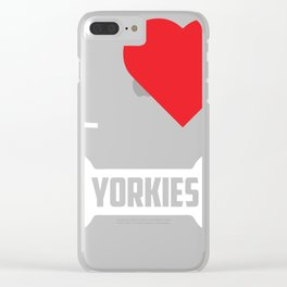 Yorkie Design I Heart Yorkies Bone Clear iPhone Case
