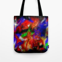 psych Tote Bags featuring Psych out by JT Digital Art