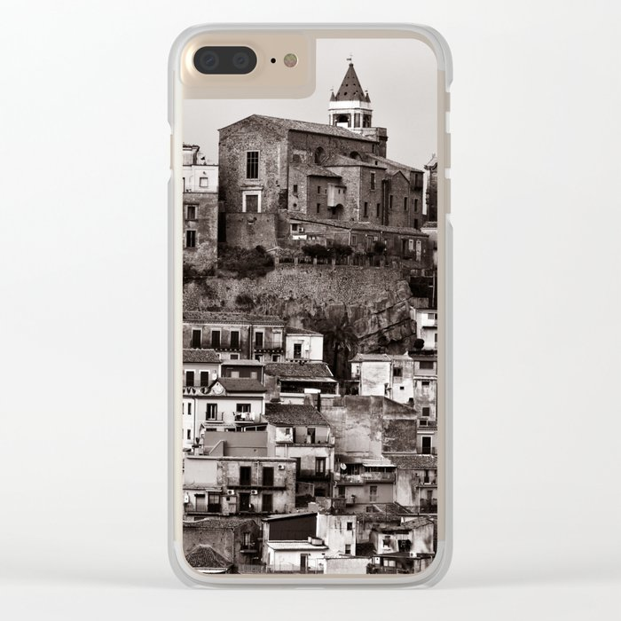"Urban Landscape of Sicily ""VACANCY"" zine Clear iPhone Case"