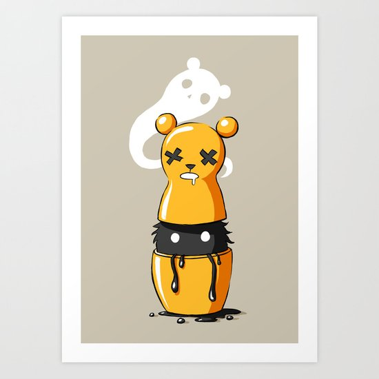 Matryoshka Monster Art Print