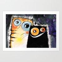 friendship Art Prints featuring friendship by Katja Main