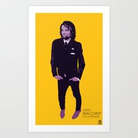 aragorn Art Prints featuring 2000's Aragorn by LoweakGraph
