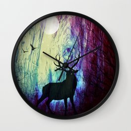 Mystical Space Forest Wall Clock
