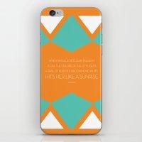 john snow iPhone & iPod Skins featuring John by Katrina L. Martinez