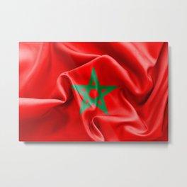 Morocco Flag Metal Print