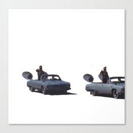 super powered car Canvas Print
