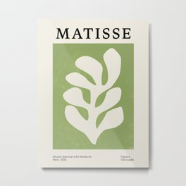 Forest Green Leaf: Matisse Paper Cutouts V Metal Print