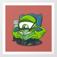 Big Green Eyeball Monster Art Print