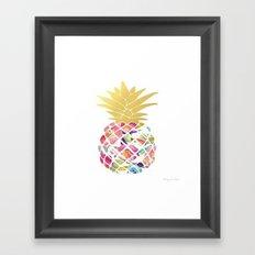 Preppy Pineapple Framed Art Print