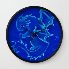 Water Dragon of the Deep Wall Clock