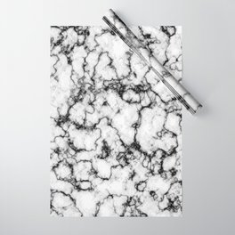 Black and White Stone Wrapping Paper