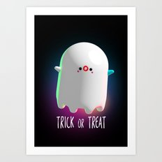 Spooky Ghost Art Print