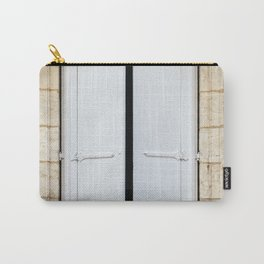 Old fashioned window with shutters Carry-All Pouch