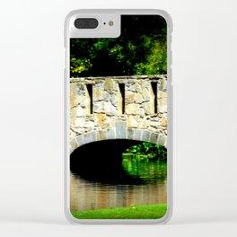 Bridge over Pond Clear iPhone Case