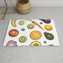 Fruits and vegetables Rug