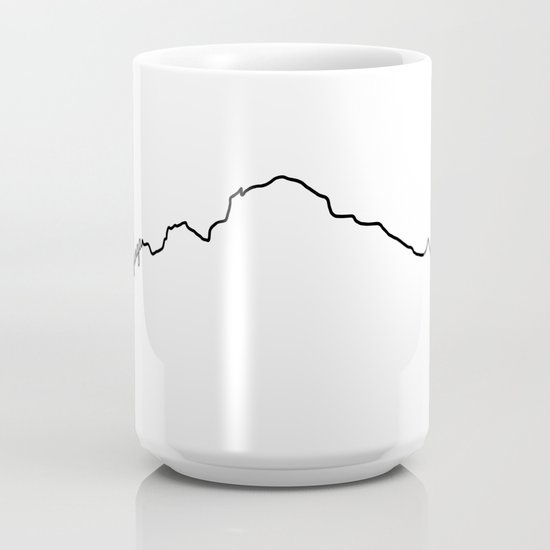Kanchenjunga Art Print White Background Black Line Minimalist Mountain Sketch Coffee Mug By A88mountainstate Society6
