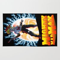 mad max Area & Throw Rugs featuring Mighty Mad Max by ADobson
