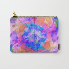 Modern bright pink lavender abstract kaleidoscope pattern Carry-All Pouch