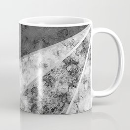 Combined abstract pattern in black and white . Coffee Mug