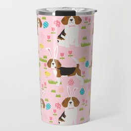 Beagle easter spring bunny eggs dog breed gifts for pure breed pet lover beagles Travel Mug