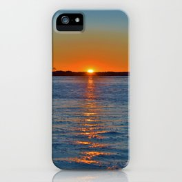 Frozen Bay Sunset iPhone Case