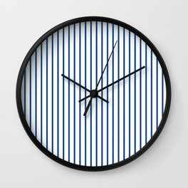 Morning Glory Blue Pin Stripe on White Wall Clock