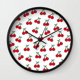 Cherries 1 (on white) Wall Clock