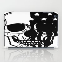 american psycho iPad Cases featuring American Psycho Skull by Kelsey