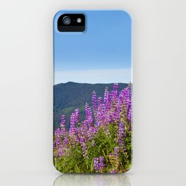 The Lupines in the Hills iPhone Case