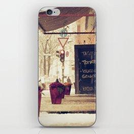 street cafe iPhone Skin