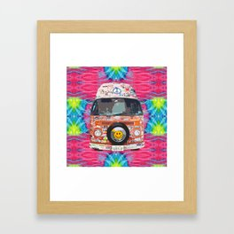 Groovy Hippie Van Framed Art Print