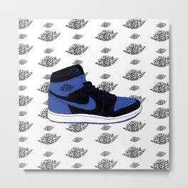 Jordan 1 Royal Metal Print