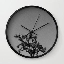 Joshua Tree Mailboxes Black and White Wall Clock