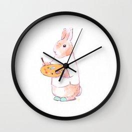 Artist Bunny Wall Clock