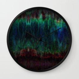 Distorted Ikat Wall Clock