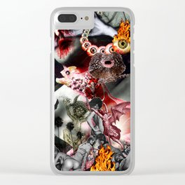 Lucifer Ascending Clear iPhone Case