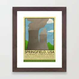Silver Screen Tourism: SPRINGFIELD, USA / THE SIMPSONS Framed Art Print