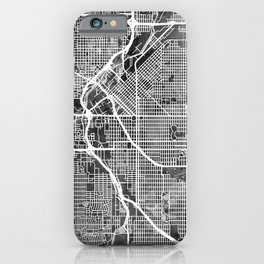 Denver Colorado Street Map iPhone Case