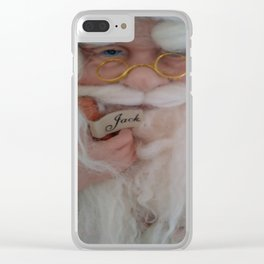 Up close with Santa Clear iPhone Case